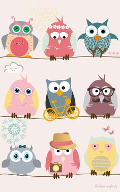 Owls by Mary Birdy