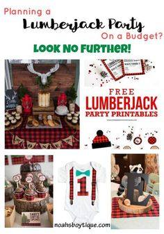 Lumberjack First Birthday Party Outfit and Ideas DIY On a Budget #lumberjack #lumberjackparty #boysfirstbirthday