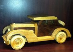 Wooden Gangster Car Toy or Decoration by DTSWoodworks on Etsy