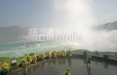 niagara falls wide angle view