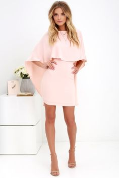 Things are looking up with items like the Best is Yet to Come Peach Backless Dress making their way into your wardrobe! Unique backless silhouette with cape sleeves. Cape Dress, Dress Up, Bodycon Dress, Day Dresses, Cute Dresses, Peach Dresses, Teen Dresses, Midi Dresses, Dresses Online