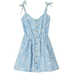 Vintage Cotton Hammock Dress with Floral Print in Light Blue (378.085 IDR) ❤ liked on Polyvore featuring dresses, chicnova, vestidos, clothes - dresses, sleeveless cotton dress, blue cotton dress, floral printed dress, vintage cotton dress and vintage dresses