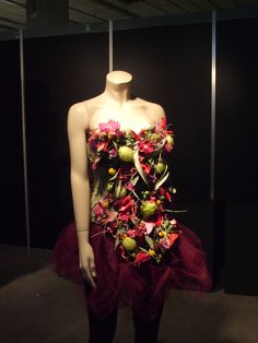 dress made of flowers
