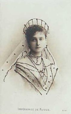Princess Alix of Hesse shortly after marrying Tsar Nicholas II of Russia and becoming Tsarina Alexandra of Russia.