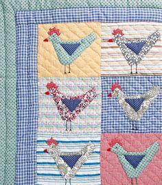Unusual Chicken Themed Quilt