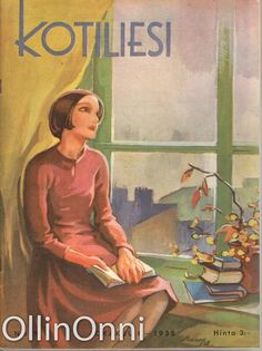 Kotiliesi 19/1938  Kansi Martta Wendelin. Vintage Green, Vintage Art, Somewhere In Time, Vintage Pictures, Martini, Finland, Childrens Books, Fairy Tales, Literature