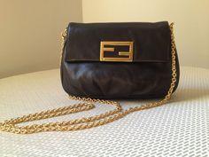 FENDI Fendista Pochette Crossbody Bag - Black NWT - Sold out!