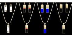 MHARI- Gold Bar Series, Gold, Color Block Jewelry, Chevron Jewelry - www.mharipatterson.com Cloths, Chevron, Chandelier, Ceiling Lights, Bar, Gold, Beauty, Jewelry, Home Decor