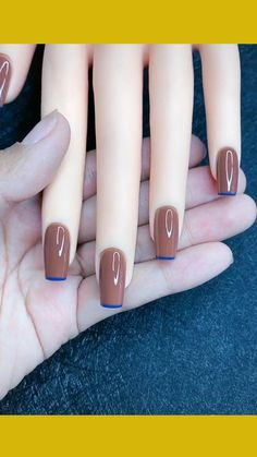 Classy Nails, Stylish Nails, Simple Nails, Trendy Nails, Simple Nail Design, Nails Design, Nagellack Design, Nagellack Trends, Cute Acrylic Nails