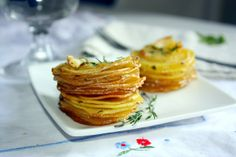 Roasted Potato Stacks by thedoctorskitchen #Potatoes #Stack