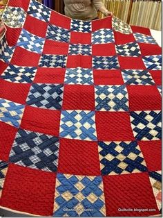 Antique quilt from Bonnie Hunter's blog
