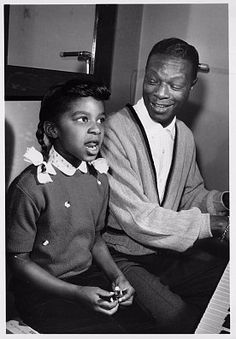 Young Natalie and her father, Nat King Cole