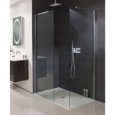 Trendy bathroom lighting layout walk in shower ideas Shower Panels, Trendy Bathroom, Shower Enclosure, Wall Hung Vanity, Bathroom Layout, Tidy Bathroom, Luxury Shower, Luxury Bathroom, Bathroom Design