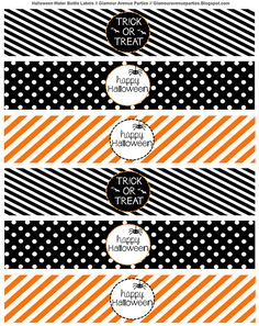 Free Halloween Printable and Signs by Glamour Avenue Parties Water Bottle Labels | by Courtney Price: Glamour Avenue Parties
