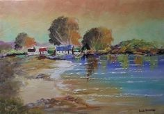 (5) LinkedIn South African Art, Painting Videos, Landscape Art, Cottages, Nature, Cabins, Naturaleza, Country Homes, Cottage