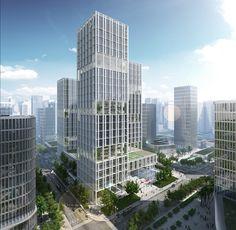 gmp Designs New Headquarters for CNPEC in Shenzhen, China,Courtesy of gmp Architekten