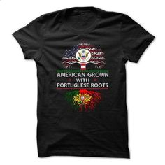 American Grown With Portuguese Roots - #cheap tee shirts #yellow hoodie. GET YOURS => https://www.sunfrog.com/Geek-Tech/American-Grown-With-Portuguese-Roots-70442551-Guys.html?60505