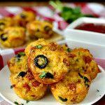 Mini Pizza Quinoa Bites | iowagirleats.com #recipe