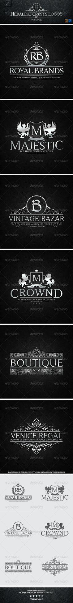 Heraldic Crest Logos Template | Buy and Download: http://graphicriver.net/item/heraldic-crest-logos-vol2/7472402?WT.ac=category_thumb&WT.z_author=Alex_Zeppelin&ref=ksioks