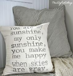 You are my sunshine...pillow parrischicboutique on etsy