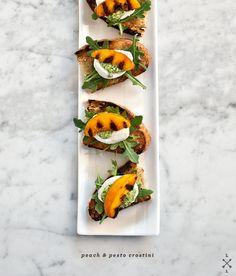 peach crostini via love and lemons