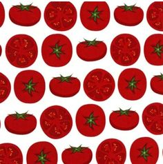 Fat Quarter Tomatoes on White Metro Market Fabric by ShuShuStyle, $3.50