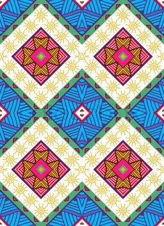 Colorful seamless ethnic pattern