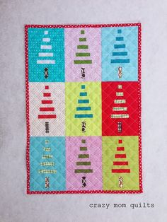 Mini trees quilt pattern by Amandajean at crazy mom quilts