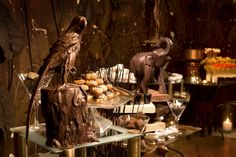 A room completely dedicated to chocolate .. even the walls!!!!.  The very first theme was   ...Chocolate Jungle . 2009-2010