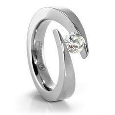 JOLIE Ladies Titanium Diamond Ring #TitaniumJewelry