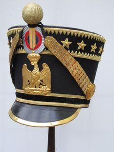 Shako da ufficiale di fanteria della guardia imperiale
