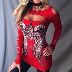 Women's Long Sleeve Hollow Out Top