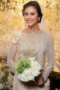 Malay Modern Not Applicable Dresses Stunning Bridal Dresses 95349 Malay Wedding Dress, Muslim Wedding Dresses, 2015 Wedding Dresses, Bridal Dresses, Wedding Poses, Wedding Attire, Muslimah Wedding, Champagne Bridesmaid Dresses, Bridal Lace
