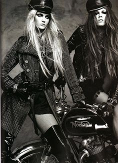 """CarolineTrentini, MashaNovoselova - """"Bad Angel"""" by Greg Kadel for magazine Numero"""