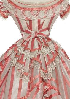 1870's Ribbon dress