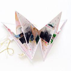 Triangle Mini album mini book scrapbook