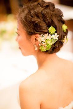 新郎新婦様からのメール 春の装花 ブラッスリー・ポールボキューズ様へ 夢ほたる2 : 一会 ウエディングの花
