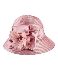 36123da9a8d Loving this Pink Satin Floral-Accent Cloche on  zulily!  zulilyfinds Floral  Bucket