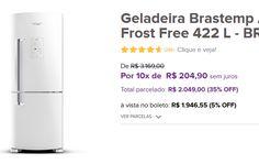 Geladeira Brastemp Ative! Inverse Frost Free 422 L - BRE50NB << R$ 194655 >>