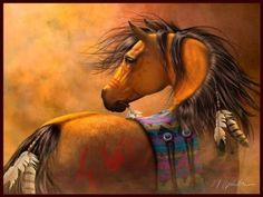 Image result for native indian horses artwork