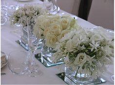 White Flower Arrangements for Weddings | Snow White Wedding Centerpieces White Wedding Centerpiece Ideas