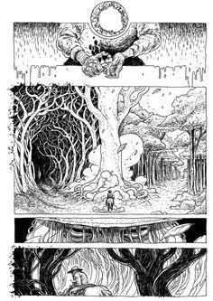 Ian Bertram 4 Comic Book Pages, Comic Books Art, Storyboard, Comic Frame, Comic Layout, Graphic Novel Art, Ligne Claire, Bd Comics, Comic Drawing