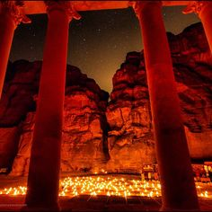 A unique perspective of #Petra by Night...from INSIDE the Treasury! #JO #Jordan #Amman #Travel