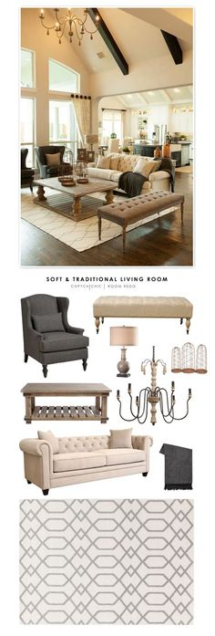 Copy Cat Chic Room Redo Soft Traditional Living Room Copy Cat