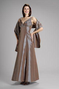 2015 V-neck Satin Sleeveless Tea Length Shawl Mother of the Bride Dresses…