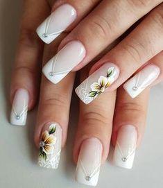 Cute Acrylic Nail Designs, Beautiful Nail Designs, Nail Art Designs, Bride Nails, Wedding Nails, Gorgeous Nails, Pretty Nails, Square Oval Nails, Nails Only