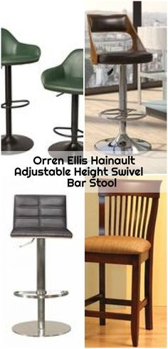Orren Ellis Hainault Adjustable Height Swivel Bar Stool , Orren Ellis Hainault Adjustable Height Swivel Bar Stool Upholstery:... ,  #Adjustable #bar #Ellis #Hainault #Height #Orren #Stool #swivel Counter Bar Stools, Swivel Bar Stools, Upholstery, Chair, Furniture, Home Decor, Tapestries, Decoration Home, Room Decor