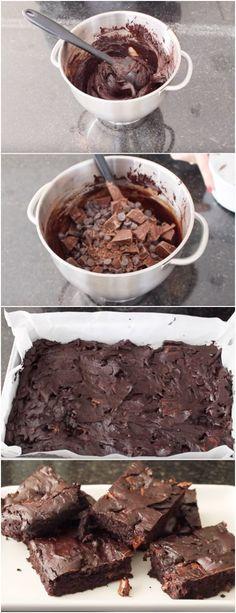 Brownie de Chocolate, aqui em casa não sobra nadinha #browniedechocolate #chocolate #doce #doces #sobremesa #sobremesas
