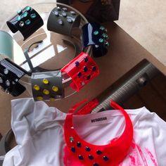 #Ceciliarosati fluo line..bangles at #fashioncamp2012