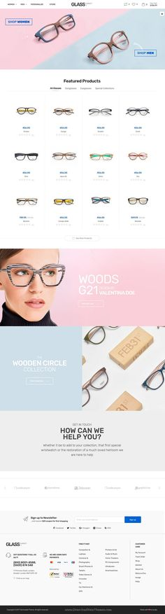 Techmarket is clean and modern design responsive bootstrap HTML5 template for stunning #glasses store #eCommerce website with 14 unique homepage layouts to live preview & download click on Visit 👆 #spectacles